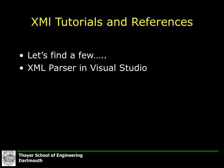 XMl Tutorials and References