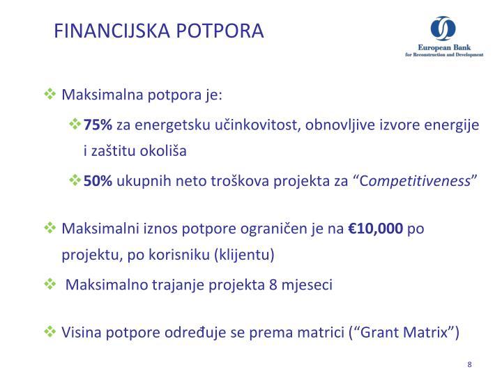 FINANCIJSKA POTPORA
