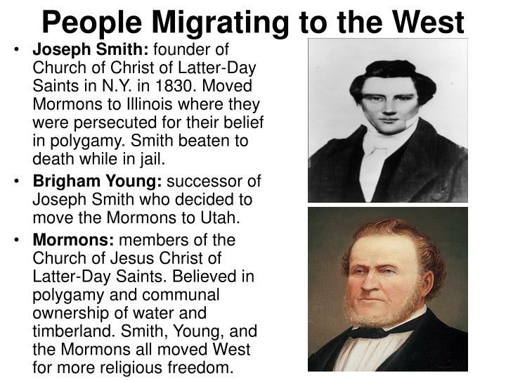 People Migrating to the West