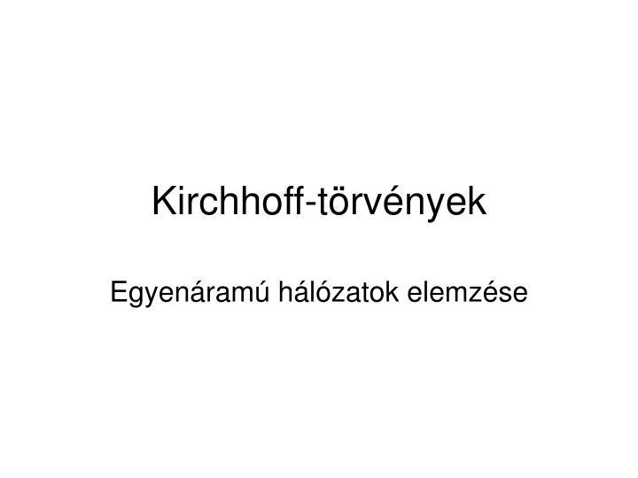 Kirchhoff-törvények