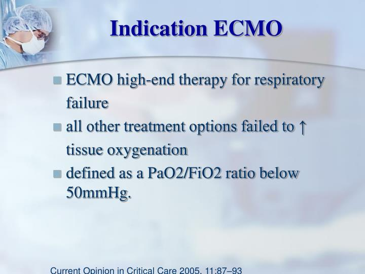 Indication ECMO