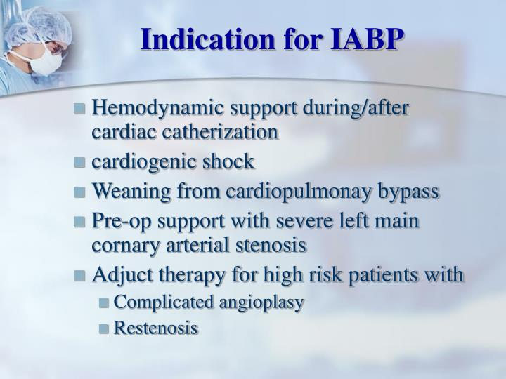 Indication for IABP