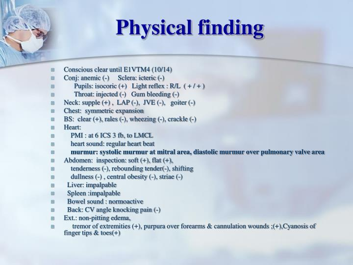 Physical finding