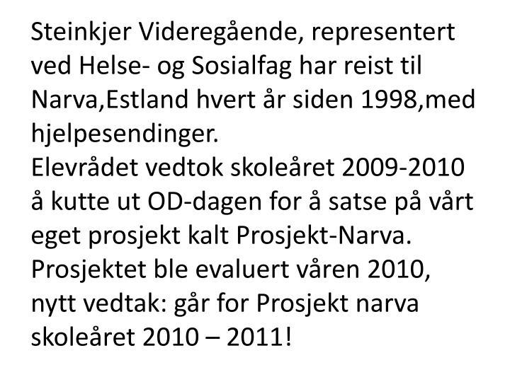 Steinkjer Videregående, representert ved Helse- og Sosialfag har reist til