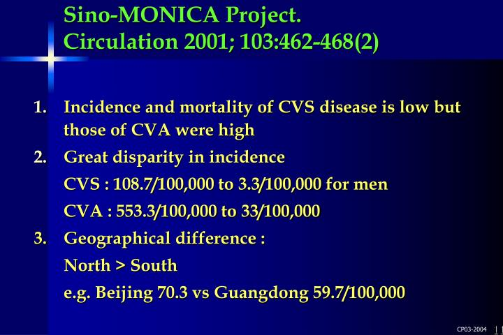 Sino-MONICA Project.