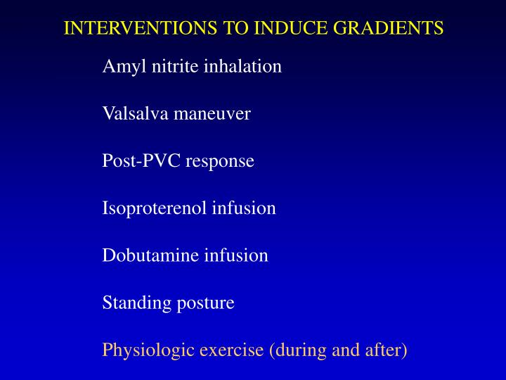 INTERVENTIONS TO INDUCE GRADIENTS