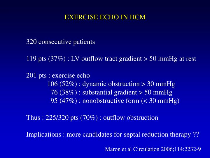 EXERCISE ECHO IN HCM
