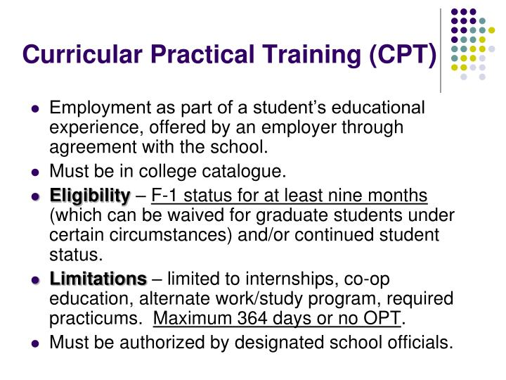 Curricular Practical Training (CPT