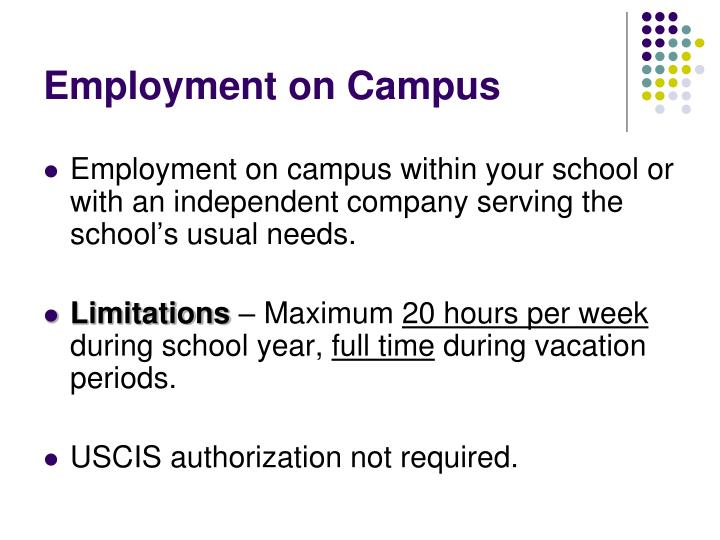 Employment on Campus