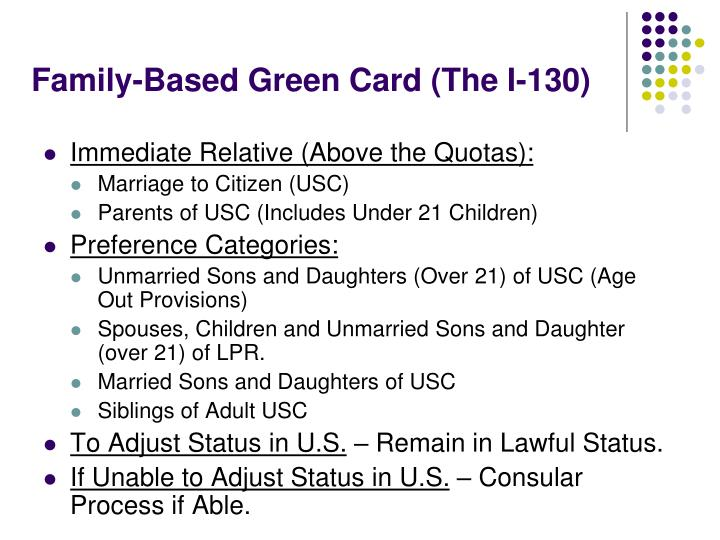 Family-Based Green Card (The I-130)