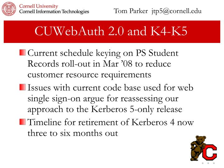 Tom Parker  jtp5@cornell.edu