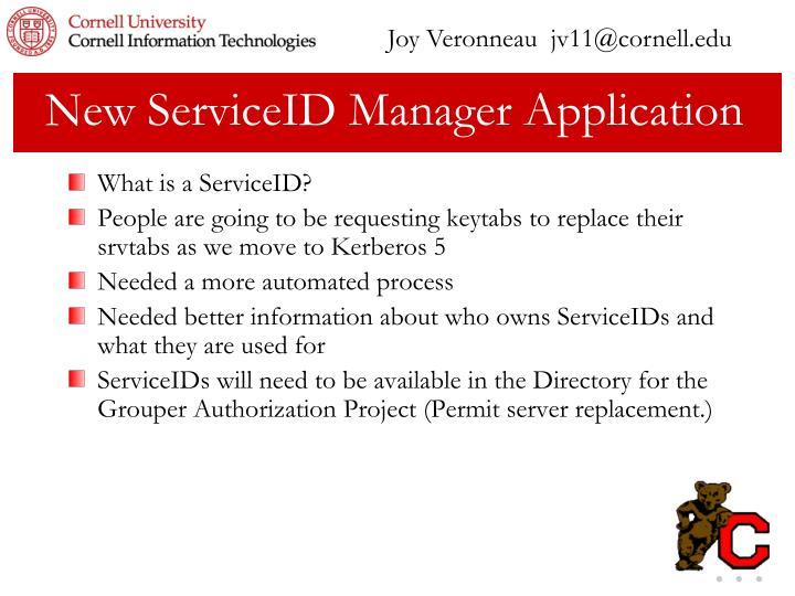 Joy Veronneau  jv11@cornell.edu