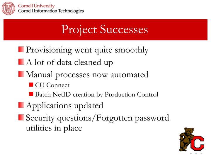Project Successes