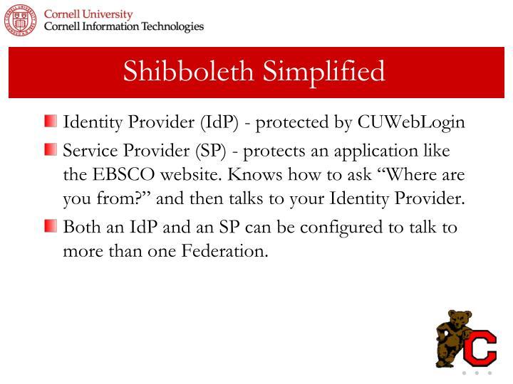 Shibboleth Simplified