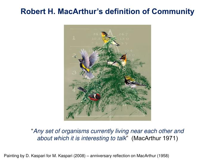 Robert H. MacArthur's definition of Community