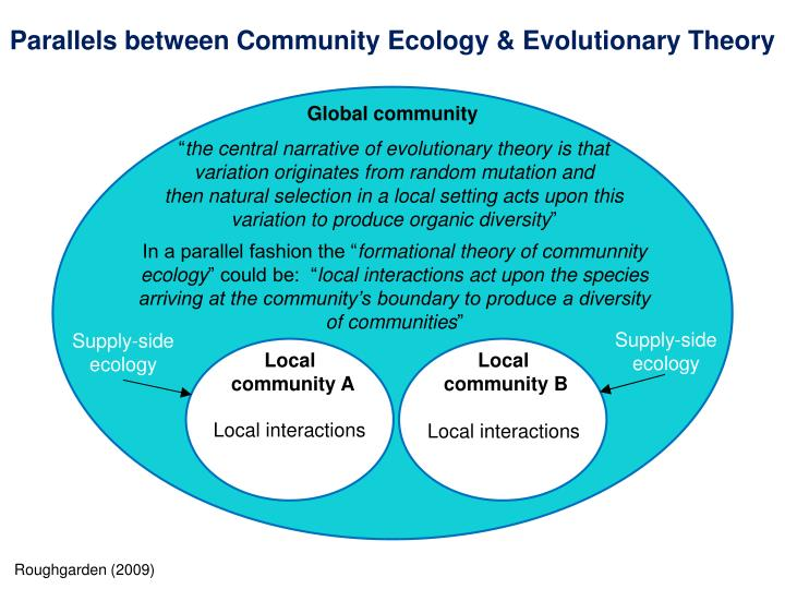 Parallels between Community Ecology & Evolutionary Theory