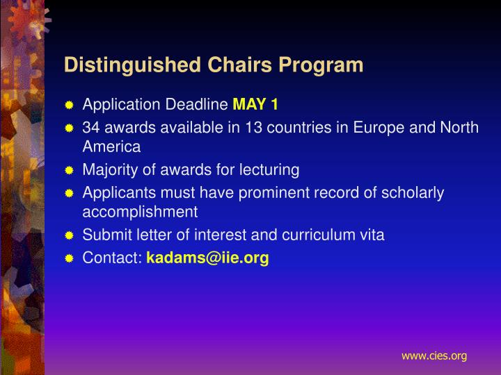 Distinguished Chairs Program