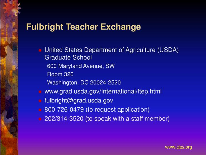 Fulbright Teacher Exchange