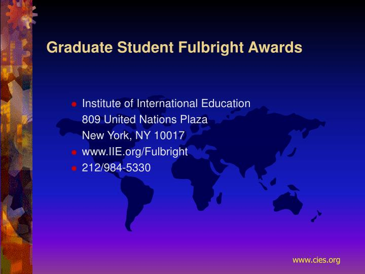 Graduate Student Fulbright Awards