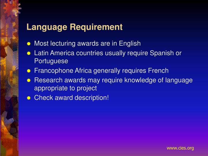 Language Requirement