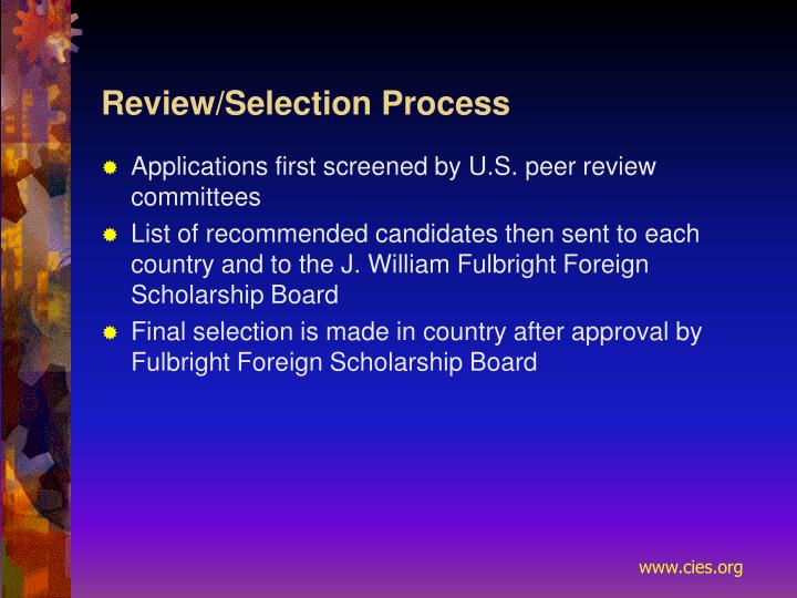 Review/Selection Process