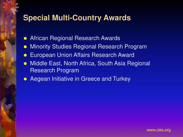 Special Multi-Country Awards