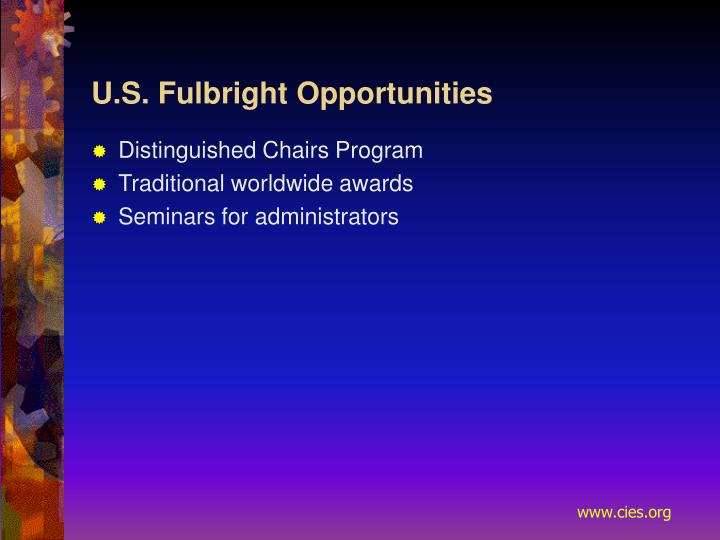 U.S. Fulbright Opportunities