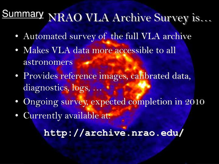 NRAO VLA Archive Survey is…