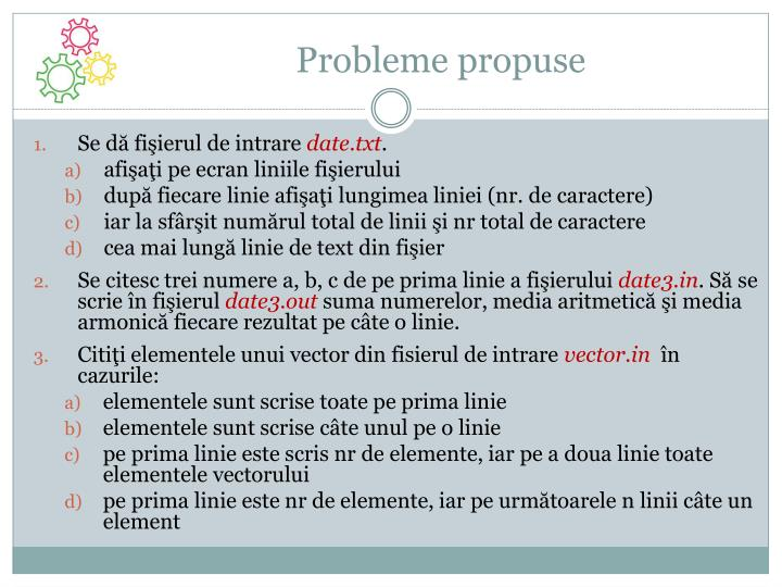 Probleme propuse