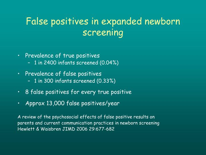 False positives in expanded newborn screening