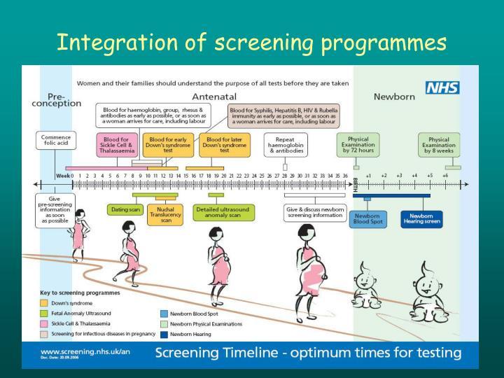 Integration of screening programmes