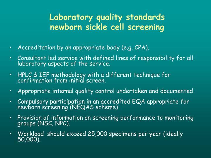 Laboratory quality standards