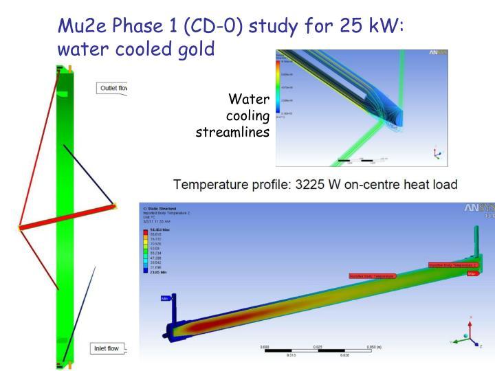 Mu2e Phase 1 (CD-0) study for 25 kW: