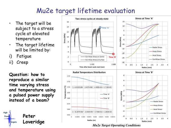 Mu2e target lifetime evaluation
