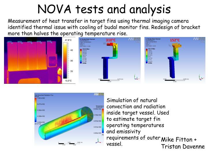 NOVA tests and analysis
