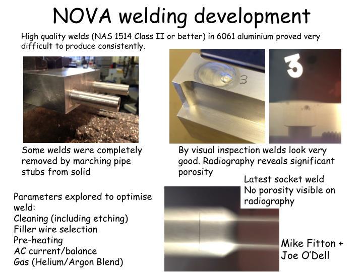 NOVA welding development