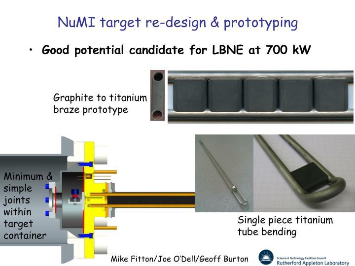 NuMI target re-design & prototyping