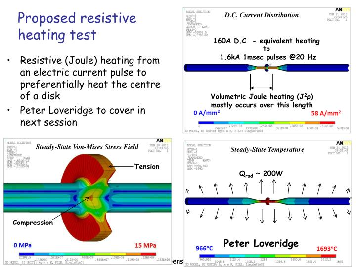 Proposed resistive heating test