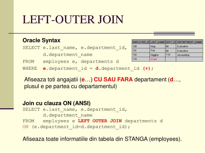 LEFT-OUTER JOIN