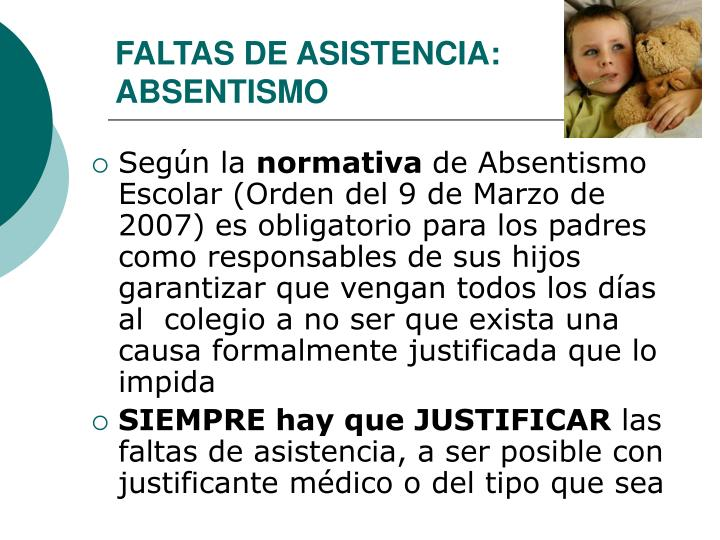 FALTAS DE ASISTENCIA: ABSENTISMO