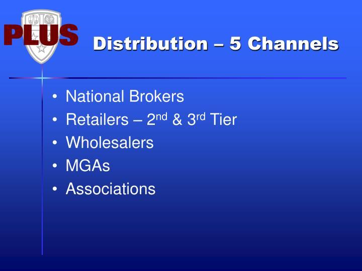 Distribution – 5 Channels