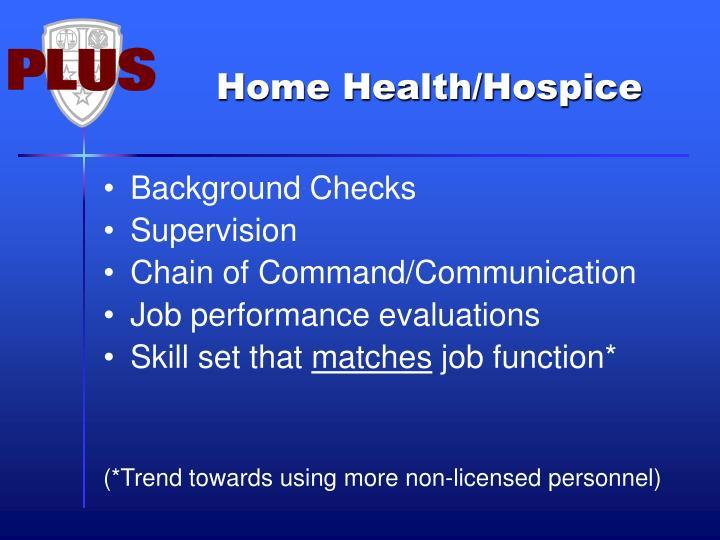 Home Health/Hospice