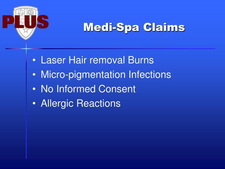 Medi-Spa Claims