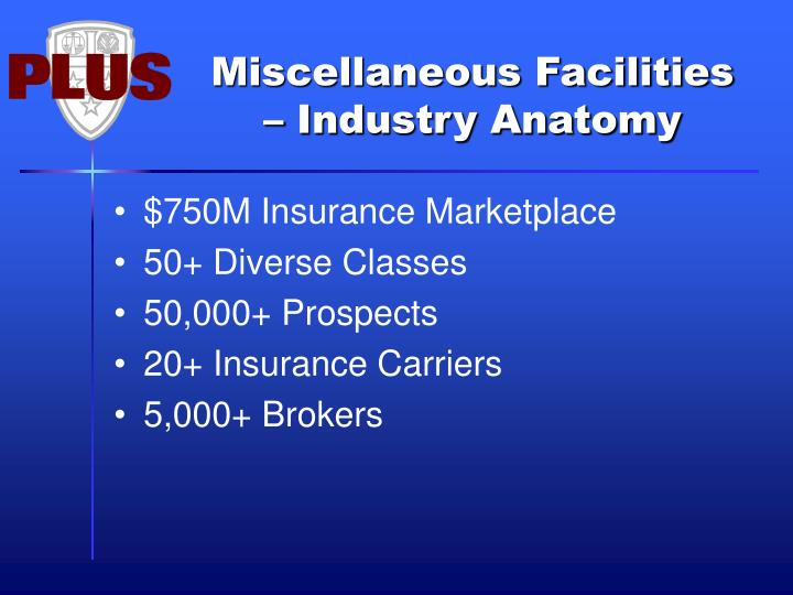 Miscellaneous Facilities – Industry Anatomy