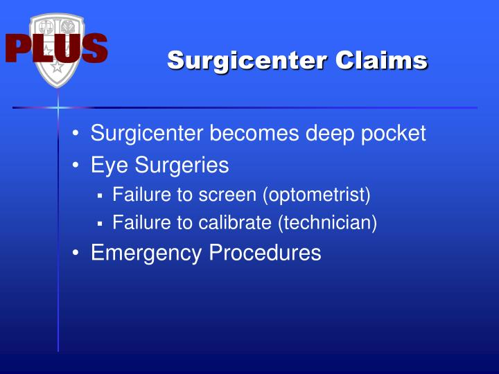 Surgicenter Claims