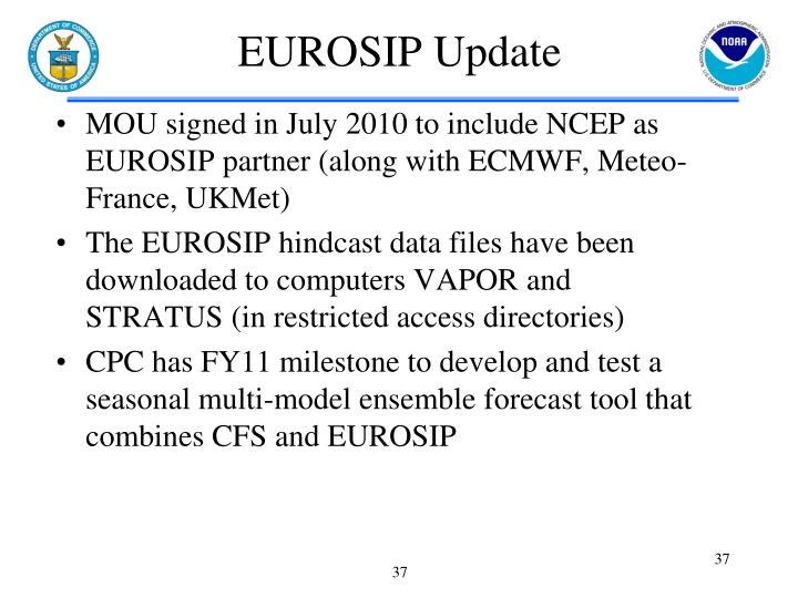 EUROSIP Update