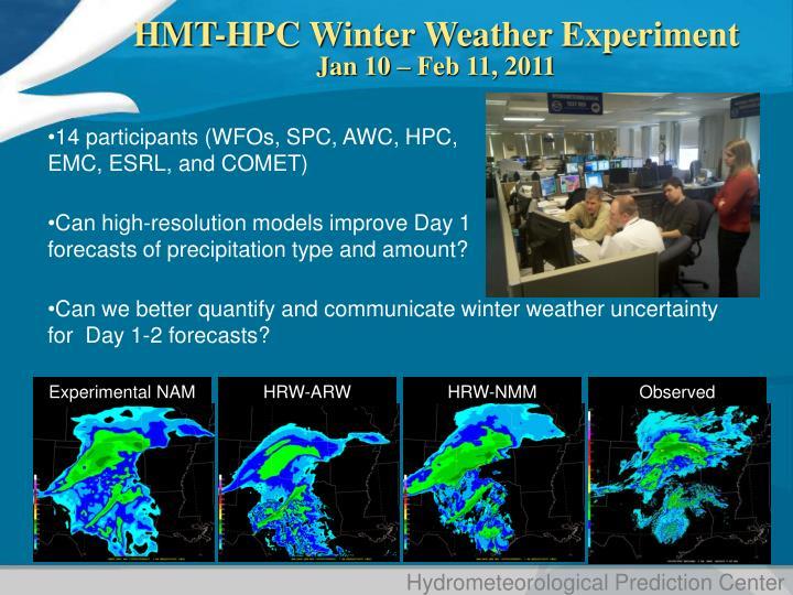 HMT-HPC Winter Weather Experiment