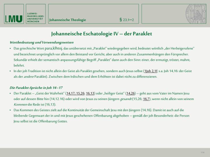 Johanneische Theologie