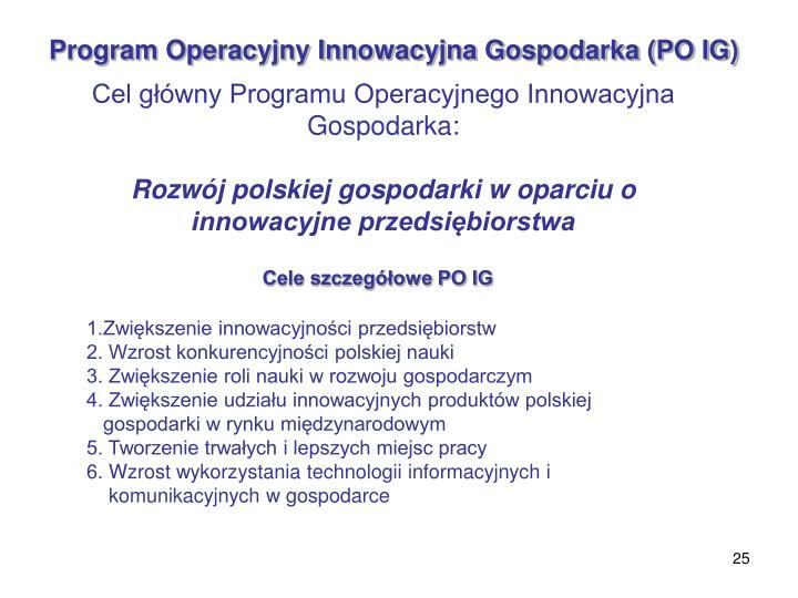 Program Operacyjny Innowacyjna Gospodarka (PO IG)