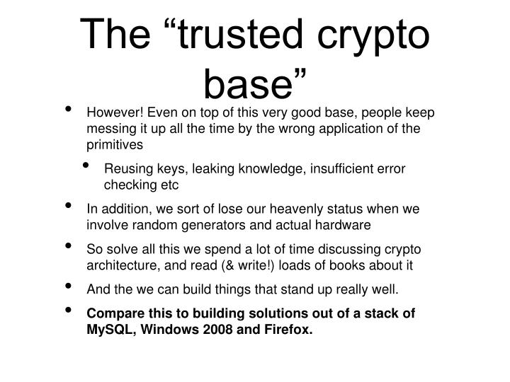 "The ""trusted crypto base"""